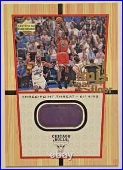 2000 Ud Michael Jordan Jumbo Mj's Final Floor #ff4 Game Floor From Final Shot