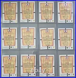 2000 Upper Deck Michael Jordan MJ's Final FLOOR 12 Card Rare Insert Jumbo LOT