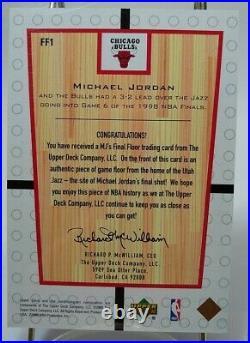 2000 Upper Deck Michael Jordan Mj's Final Floor #ff1 Mj's Final Game, Jumbo