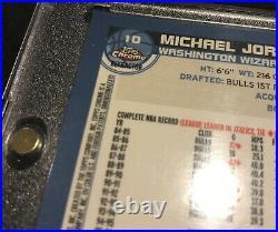 2002-03 Topps Chrome MICHAEL JORDAN Base Card REFRACTOR REF SP#10 Last Year MINT