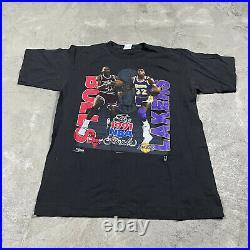 90s VTG MICHAEL JORDAN MAGIC JOHNSON L 1991 NBA Finals T Shirt Chicago Bulls