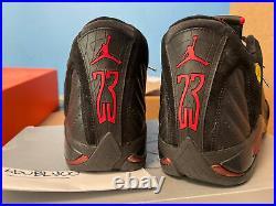 Air Jordan 14 Retro Last Shot 2005 Black/Varsity Red-Black 311832 002 Sz 12 XIV