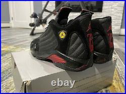 Air Jordan 14 (XIV) Retro Last Shot Black / Black Varsity Red Size 10