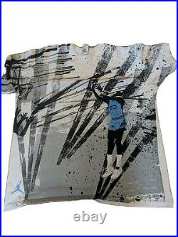 Air Jordan Rare North Carolina Final Shot NIKE Vintage Graphic T-Shirt Size XL