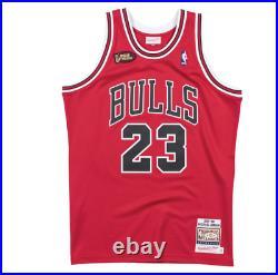 Authentic Pro Jersey Chicago Bulls Road Finals 1997-98 Michael Jordan Red XXL