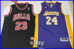 Bulls, Lakers GOAT + MAMBA #23, #24 Autographed 2 Jerseys + COA, LAST STOCK