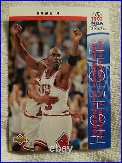 CHICAGO BULLS MICHAEL JORDAN GAME 4 1993 UPPER DECK NBA FINALS CARD #201 Mint