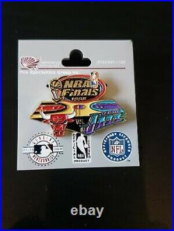 CHICAGO BULLS-UTAH JAZZ 1998 NBA Finals Pin New Vintage RARE
