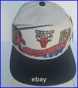 Chicago Bulls 1996 NBA Champions Locker Room Snapback Cap Jordan Last Dance NWT
