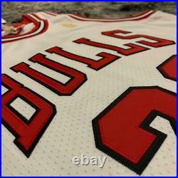 Chicago Bulls #23 Michael Jordan 1997 Finals Jersey White Size L 100% Authentic