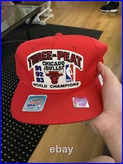 Chicago Bulls Nba Finals 1993 Championship 3 Peat Hat Jordan Last Dance ESPN