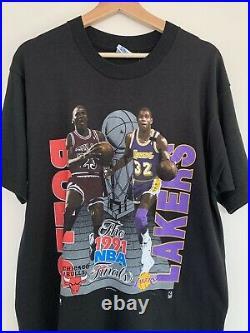 DS Vintage 1991 NBA Finals Bulls Lakers L Michael Jordan Magic Johnson Deads