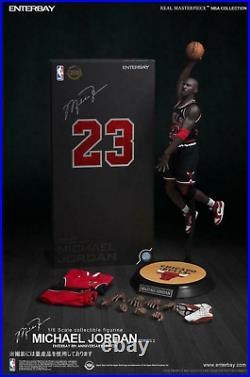 Enterbay Michael Jordan #23 1/6 Action Figure Road Black Jersey The Last Shot