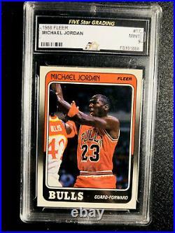 HOT 1988 Fleer Michael Jordan #17 GRADED MINT 9 Chicago Bulls THE LAST