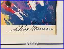 Huge Rare Leroy Neiman Double Signed Michael Jordan The Last Dance 32.5 X 27.25