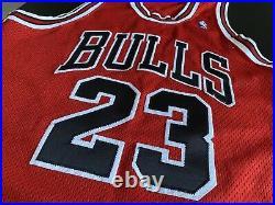 LAST DANCE! Michael Jordan Authentic Jersey Nike Chicago Bulls Red 1997 Sz 44 L