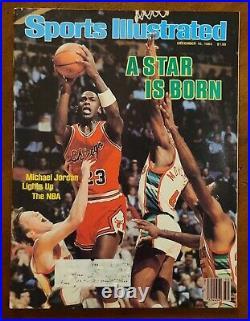 MICHAEL JORDAN 1984 1st Bulls Sports Illustrated Magazine Last Dance Dec 84 NMT