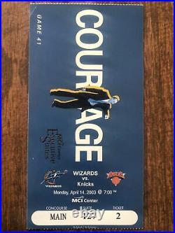MICHAEL JORDAN 2003 Last NBA Home GAME TICKET and Lanyard Washington Wizards