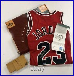 MICHAEL JORDAN Autographed Chicago Bulls Final Floor Red Jersey UDA LE 230