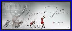 MICHAEL JORDAN Autographed Last Shot The Show 46 x 20 Framed Lithograph UDA
