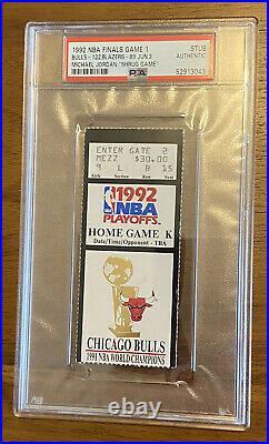 MICHAEL JORDAN SHRUG GAME TICKET STUB 1992 NBA Finals Game1 PSA black variant