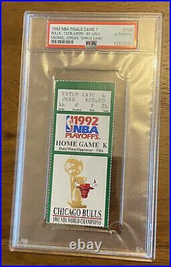 MICHAEL JORDAN SHRUG GAME TICKET STUB 1992 NBA Finals Game1 PSA green variant