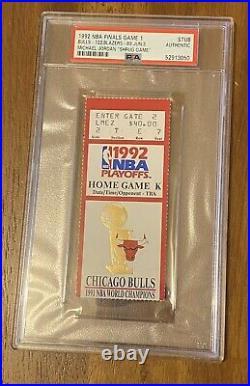 MICHAEL JORDAN SHRUG GAME TICKET STUB 1992 NBA Finals Game 1 PSA Red Bulls