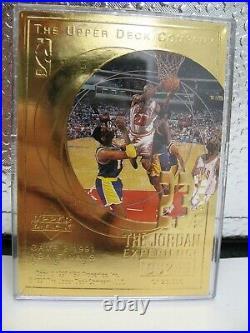 MICHAEL JORDAN Upper Deck 23 NIGHTS 22KT GOLD 85 SLAM DUNK Game 2 1991NBA Finals
