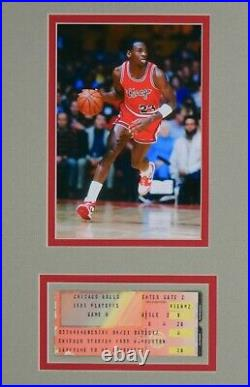 Michael Jordan 1985 Playoff Ticket Game 4 1984-85 Last Game Of Rc Season + Uda