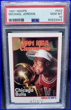 Michael Jordan 1991 Hoops #543 PSA 10 Gem Mint HOF Finals Champions