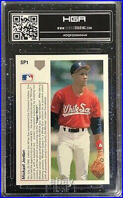 Michael Jordan 1991 Upper Deck #SP1 Baseball Last Dance HGA 9 Mint