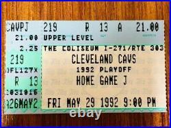 Michael Jordan 1992 Eastern Conference Finals Game 6 Bulls Vs Cavs Closer Stub