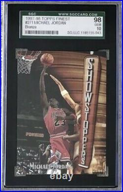 Michael Jordan 1997-98 Finest #271 Showstoppers Sgc 98 Gem Mint 10 Last Dance