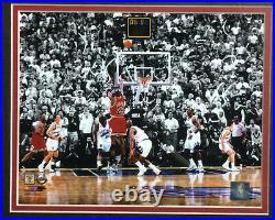 Michael Jordan 1998 NBA Finals Winning Shot Framed Photo quote Last Dance Bulls