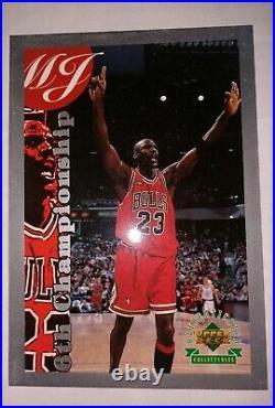 Michael Jordan 1998 Ud Authenticated Silver 6th Champ #d /1000 Rare Last Dance