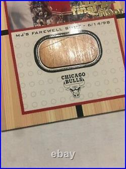 Michael Jordan 1999-00 Upper Deck Final Floor #12 Game Used Regular Size 12500