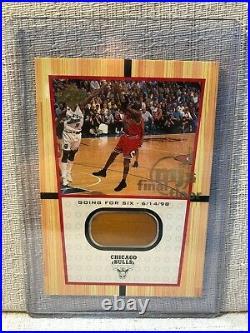 Michael Jordan 2000 Upper Deck MJs Final Floor Going For Six Jumbo Card FF9