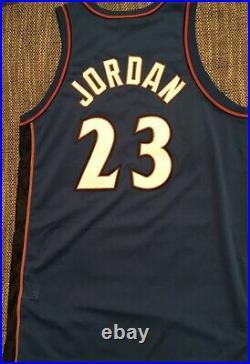 Michael Jordan Authentic Nike 9/11 Road Jersey 50+4 pro cut last dance