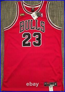 Michael Jordan Authentic Nike Finals Road Jersey 50+4 BNWT pro cut last dance