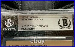 Michael Jordan Autographed 1990 91 Hoops #6 Signed Card LAST DANCE Beckett