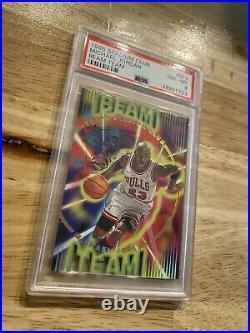 Michael Jordan Beam Team PSA 8 Insert Card 1995 Stadium Club #B14 Last Dance NR