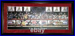 Michael Jordan Bulls The Last Dance Rivals Lithograph Photo Framed Kobe Shaq