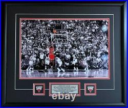 Michael Jordan Chicago Bulls THE LAST SHOT Spotlight Picture 25x29 Framed PIns