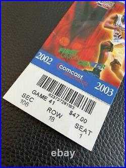 Michael Jordan Last Game Ticket Stub 4/16/03 Rare Authentic 76ers vs Wizards