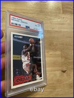 Michael Jordan PSA 6 Fleer #28 Last Dance Collector Card Chicago Bulls 1993 GIFT