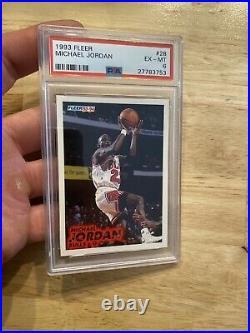 Michael Jordan PSA 6 Fleer #28 Last Dance Collector Card INVEST Chicago Bulls