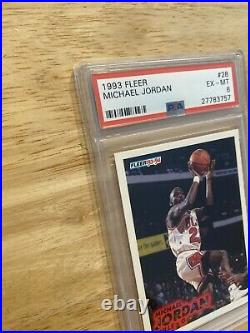 Michael Jordan PSA 6 Fleer Collector Card Last Dance Man Cave Chicago Bulls 1993