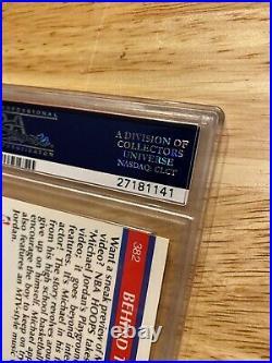 Michael Jordan PSA 6 Hoops Collector Card Playground #382 Last Dance INVEST 1990