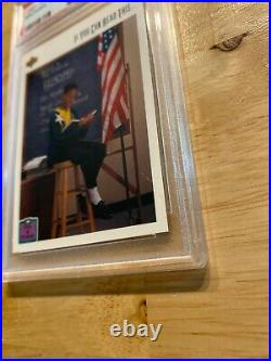 Michael Jordan PSA 8 Upper Deck #22 ICONIC SLABBED NR Last Dance INVEST 1991
