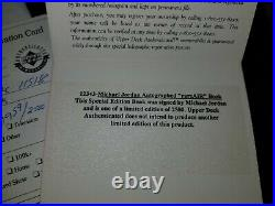 Michael Jordan Rare Air Autographed Book Upper Deck Authenticated UDA Last Dance